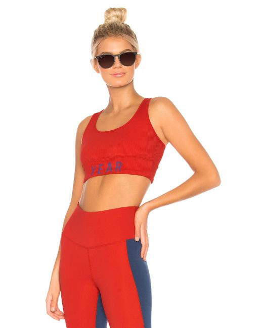 Year Of Ours - Year Rib Sports Bra In Red - Lyst
