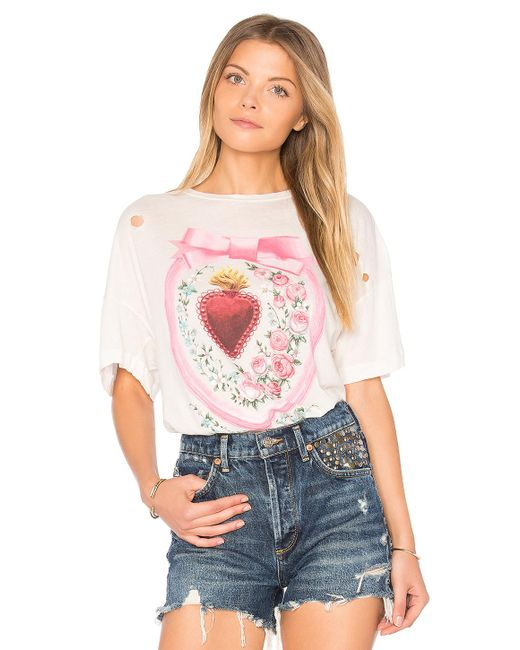 Wildfox | Multicolor Heirlooms Tee | Lyst