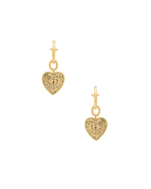 Vanessa Mooney - Metallic The Angelica Heart Hoop Earrings - Lyst
