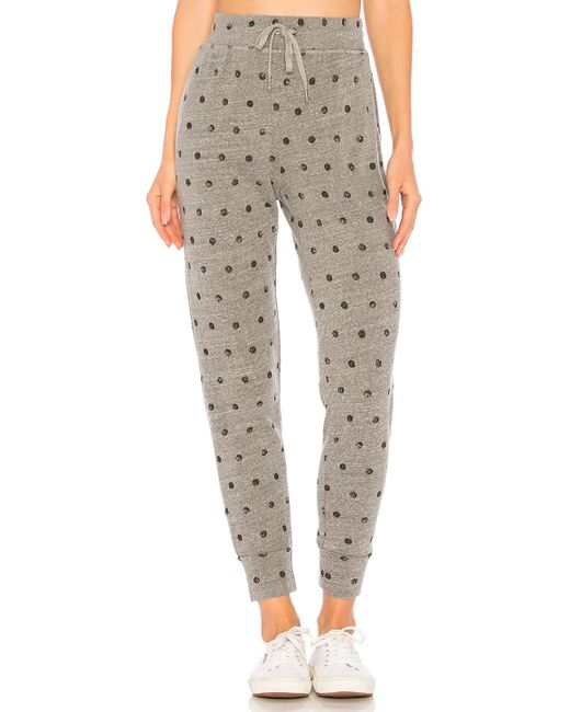 Splendid - Paint Dot Sweatpant In Gray - Lyst