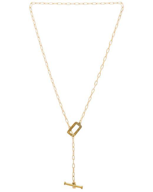 Vanessa Mooney - Dallas Toggle Necklace In Metallic Gold. - Lyst