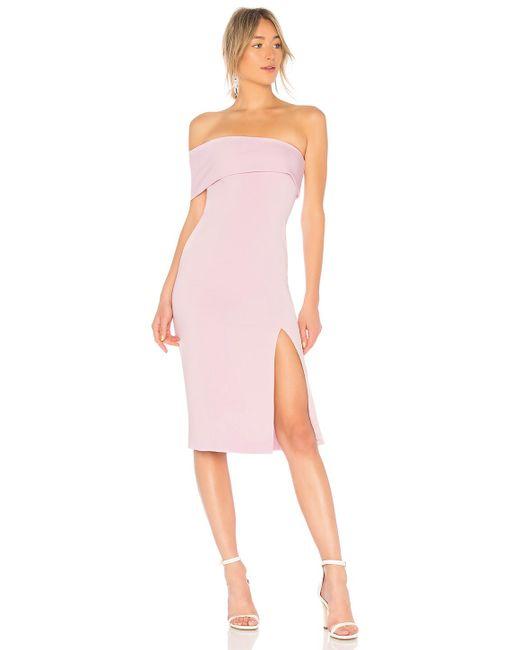 Jay Godfrey - Pink Surrey Midi Dress In Lavender - Lyst