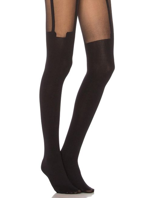 Pretty Polly - Black House Of Holland Super Suspender Tights - Lyst