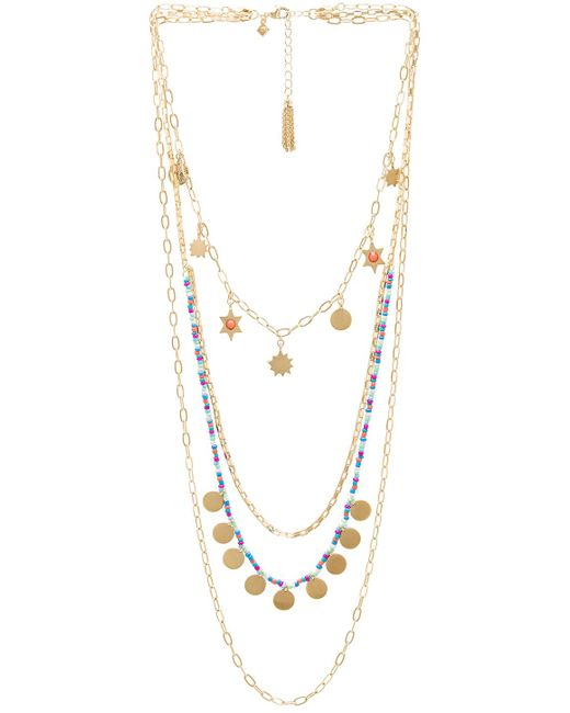 Rebecca Minkoff - Sole Charm Layered Necklace In Metallic Gold. - Lyst