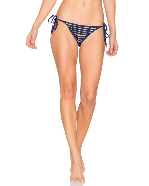 Beach Bunny | Blue Hard Summer Side Tie Bottom | Lyst