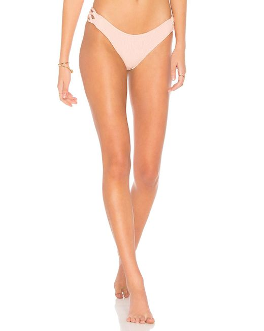 Tori Praver Swimwear - Coco Smocked Classic Bottom In Pink - Lyst