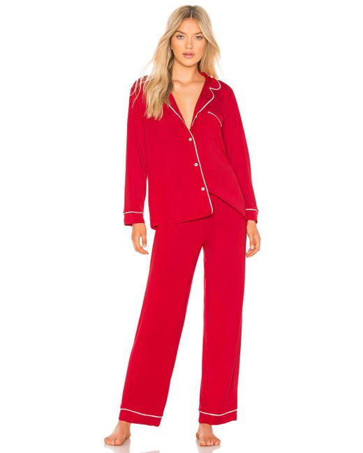Eberjey - Red Gisele Long Pj Boxed Set - Lyst