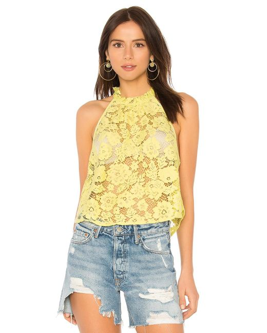 Free People - Yellow Sweet Meadow Dreams Lace Top - Lyst