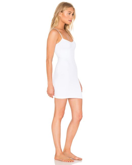 3dca0a89ed0 ... Free People - White Seamless Mini Slip - Lyst ...