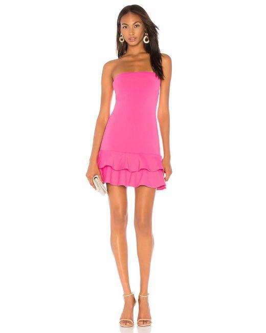 Susana Monaco - Strapless Ruffle Dress In Pink - Lyst