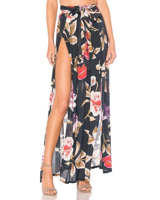 Agua Bendita - Multicolor Amaia Skirt In Navy - Lyst
