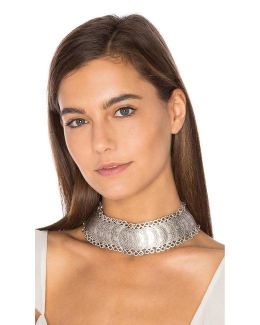 Natalie B. Jewelry | Metallic Cyprus Choker Necklace | Lyst
