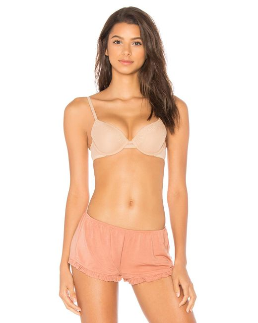 Calvin Klein - Multicolor Perfectly Fit Bra In Cream - Lyst