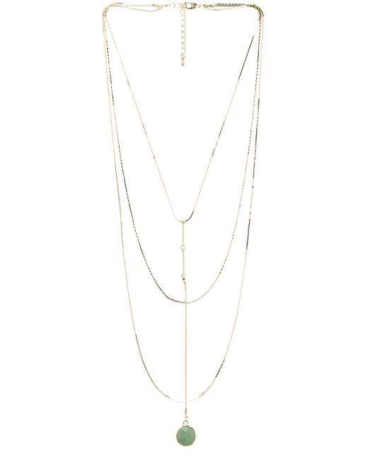 8 Other Reasons | Metallic Jade Heart Rosary Necklace | Lyst