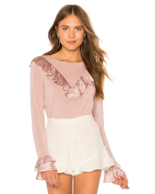 Generation Love - Pink Scarlett Ruffle Top In Mauve - Lyst