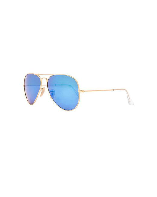 ae0523e60 Ray-Ban Aviator Large Metal Sunglasses in Blue - Save 10% - Lyst