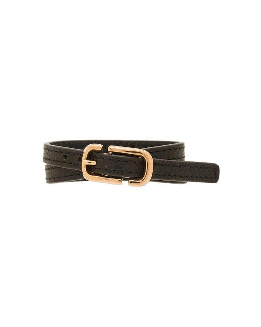 Marc Jacobs   Black Icon Buckle Double Wrap Bracelet   Lyst