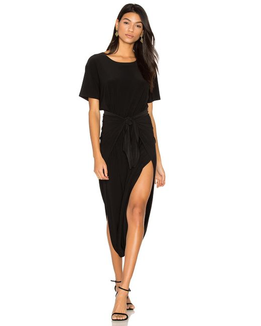 Norma Kamali | Black Short Sleeve Diaper Dress | Lyst