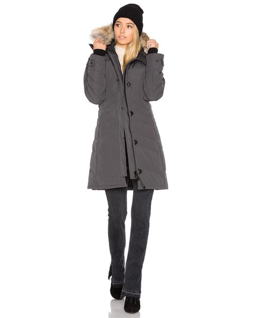 Canada Goose Lorette Parka With Coyote Fur Trim In Gray Lyst