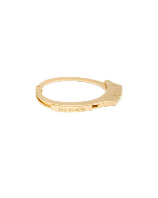 Cast Of Vices | Metallic Handcuff 14k Gold Plated Bracelet | Lyst