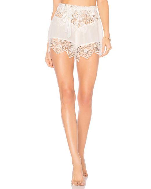 For Love & Lemons | White Caracas Lace Shorts | Lyst