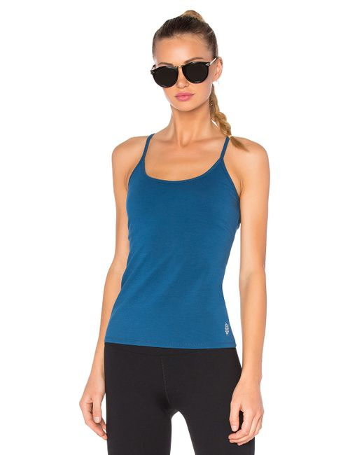 Free People | Blue Rib Slub Long Beach Tank - Mulberry | Lyst
