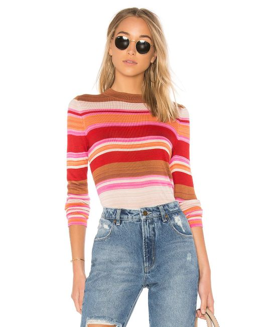 Free People | Red Show Off Your Stripes Tee | Lyst