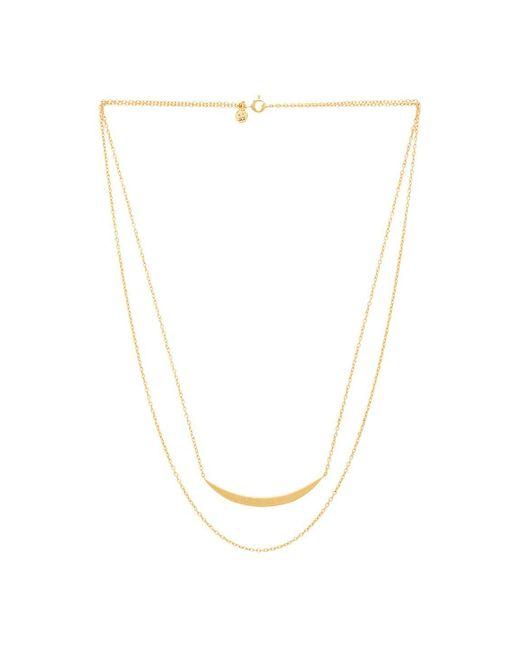 Gorjana   Metallic Crescent Layered Necklace   Lyst
