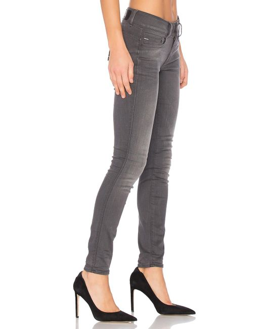 star raw midge cody skinny jean in gray lyst. Black Bedroom Furniture Sets. Home Design Ideas