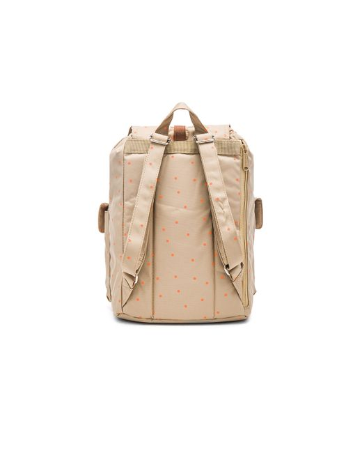 herschel supply co dawson backpack in beige khaki nectarine scatter tan lyst. Black Bedroom Furniture Sets. Home Design Ideas