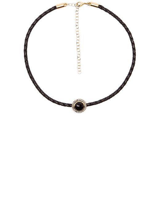 Jacquie Aiche | Black Round Gemstone Braided Choker | Lyst