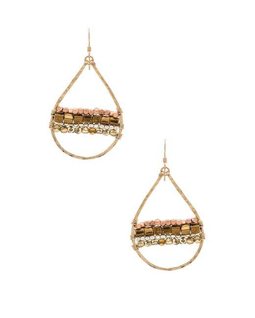 Mimi & Lu | Metallic Horizon Earrings | Lyst