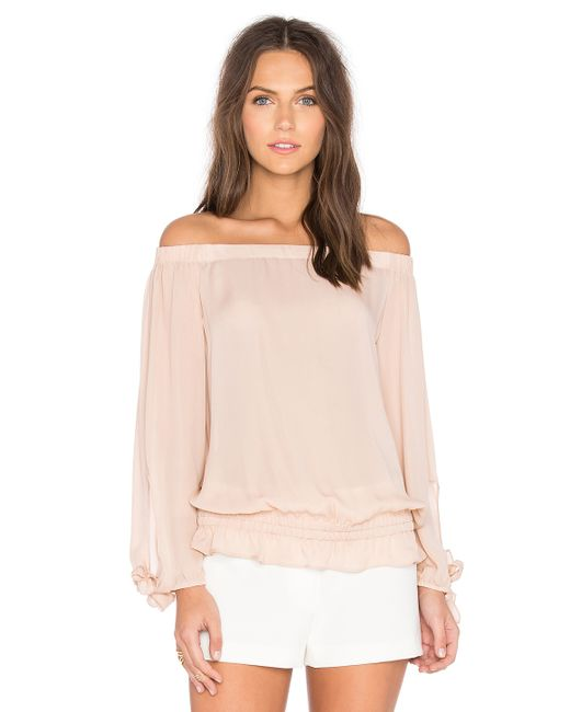 Ramy Brook Jenny Off The Shoulder Top In Pink (Blush)