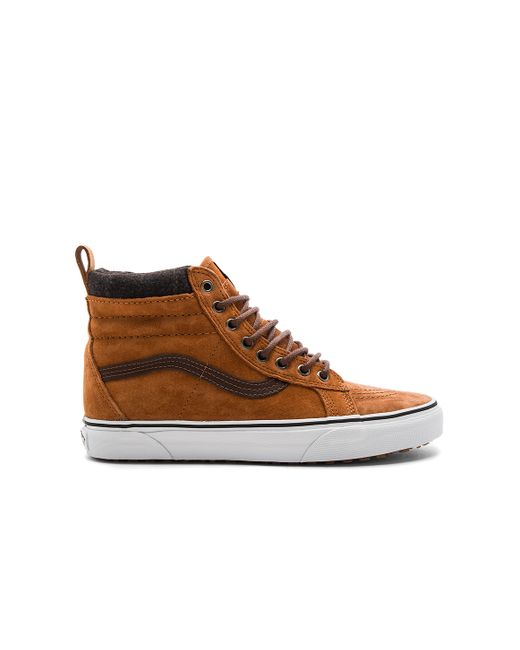 Vans Sk8 Hi Mte in Brown for Men