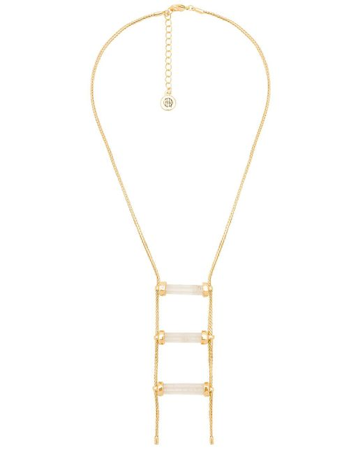 House of Harlow 1960 - Triple Crystal Necklace In Metallic Gold. - Lyst