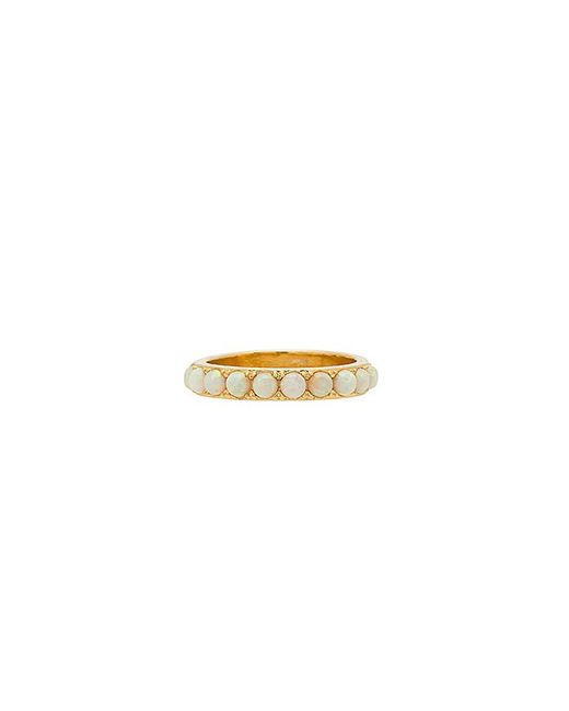 Five And Two - Metallic Isla Stoned Band Ring - Lyst