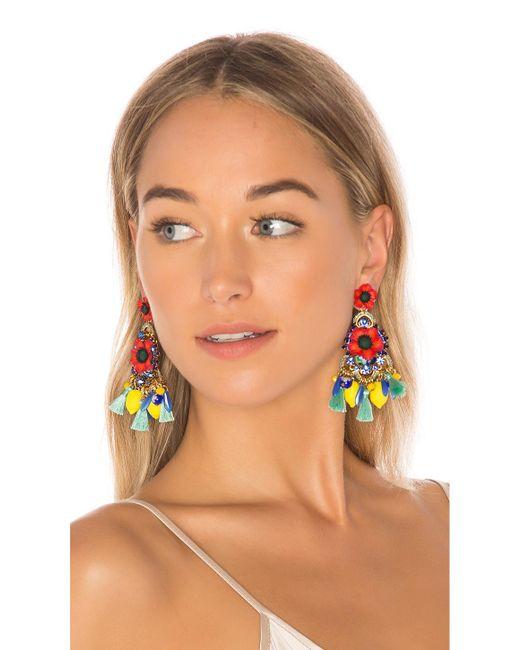 Elizabeth Cole | Multicolor Zaya Earrings | Lyst