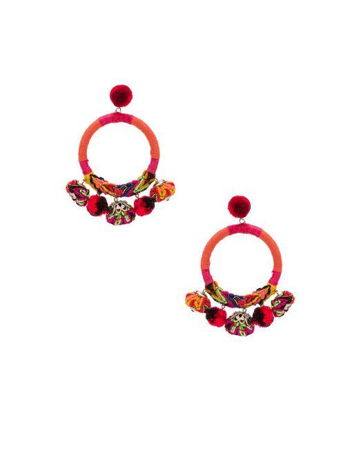 Nannacay - Red X Revolve Hera Earrings In Orange. - Lyst