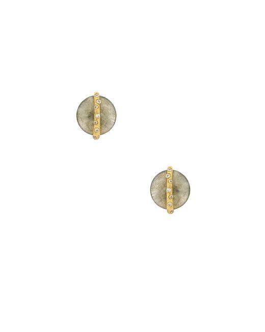 Gorjana - Brinn Shimmer Studs In Metallic Gold. - Lyst