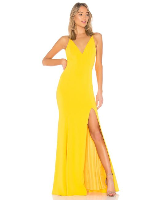 Jay Godfrey - Kimberly Gown In Yellow - Lyst