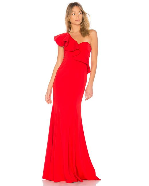 Jay Godfrey - X Revolve Bolt Gown In Red - Lyst