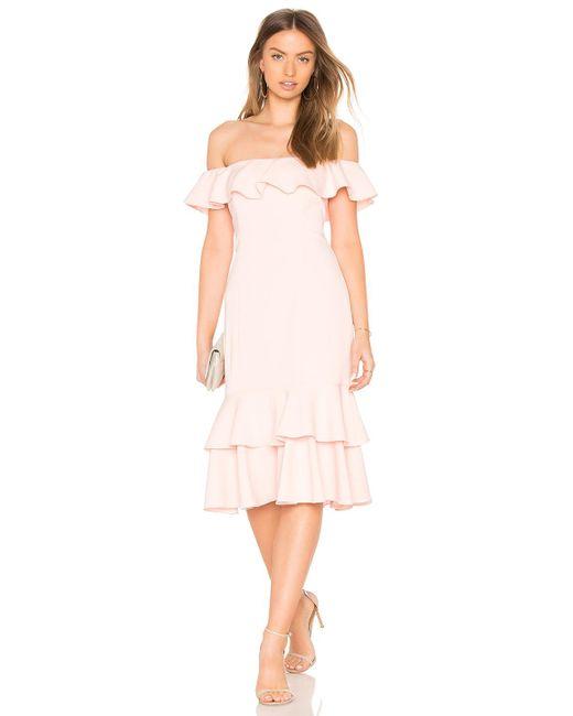 Jay Godfrey - Momoa Midi Dress In Pink - Lyst