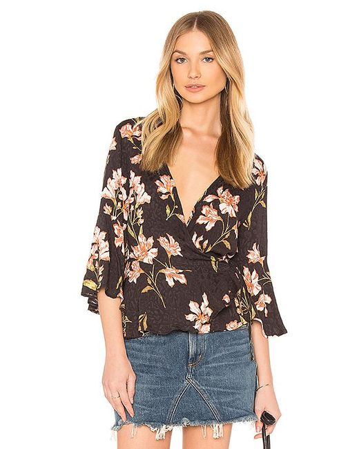 MINKPINK - Multicolor Nightshade Wrap Top In Black - Lyst