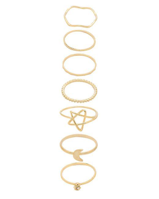 8 Other Reasons - Art Walk Ring Set In Metallic Gold. - Lyst