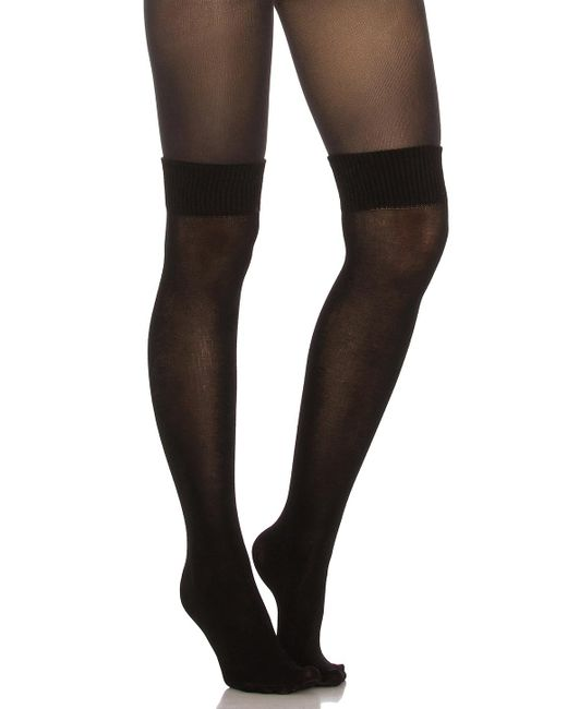 Pretty Polly - Black Secret Sock Tights - Lyst