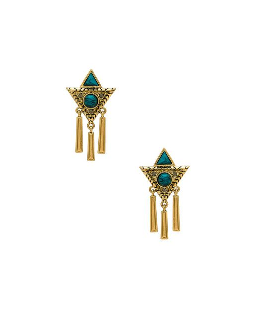 House of Harlow 1960 - Metallic X Revolve Durango Triangle Earrings - Lyst