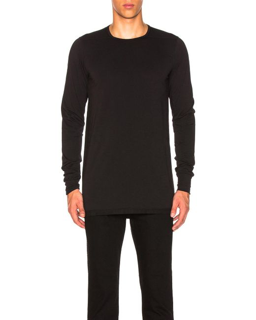 c32d3f604 DRKSHDW by Rick Owens - Black Long Sleeve Level Tee for Men - Lyst ...