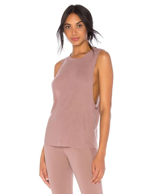 Alo Yoga - Multicolor Heat Wave Tank In Mauve - Lyst