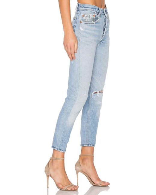 49c6f9cc34636 ... Re done - Blue Levis High Rise Ankle Crop - Lyst ...