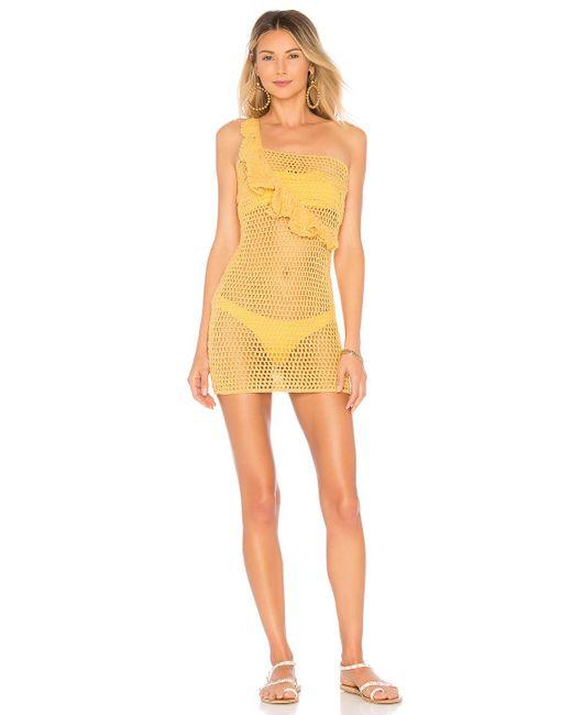 Ále By Alessandra - Yellow X Revolve Analu Mini Dress In Mustard - Lyst